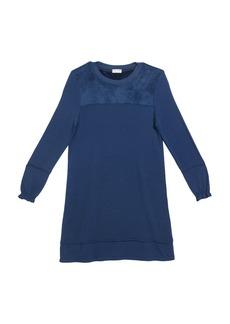 Splendid Girl's Super Soft Terry & Velour Long-Sleeve Dress  Size 7-14