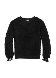 Splendid Girls' Tie-Cuff Sherpa Sweatshirt - Big Kid