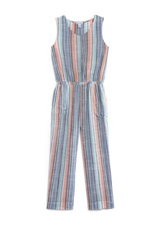 Splendid Girls' Woven Striped Jumpsuit - Little Kid