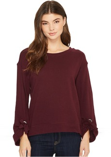 Splendid Grommet Sweatshirt