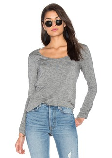 Splendid Heathered Slub Long Sleeve Top