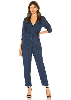 Splendid Heavy Crosshatch Jumpsuit