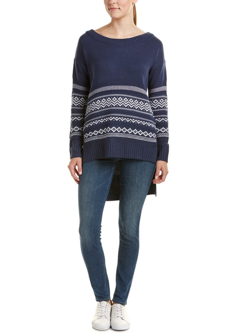 Splendid High-Low Wool-Blend Pullover