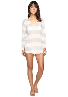Splendid Homespun Tunic Hoodie Cover-Up