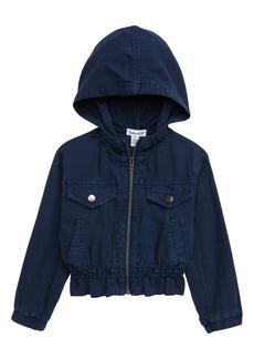 Splendid Hooded Twill Jacket (Toddler Girl & Little Girl)