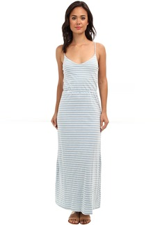 Splendid Indigo Dye Maxi Stripe Dress
