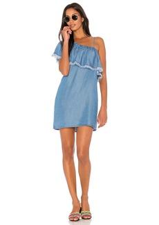 Indigo One Shoulder Dress