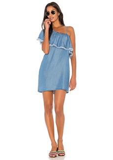 Splendid Indigo One Shoulder Dress in Blue. - size M (also in S,XS)