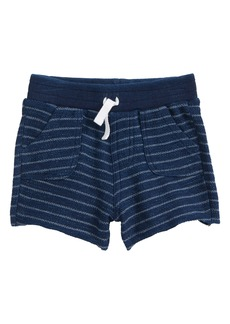 Splendid Indigo Stripe French Terry Shorts (Baby Boys)