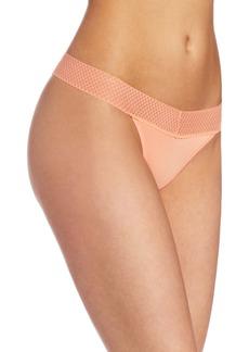 Splendid Intimates Women's Essential Mesh Lace Thong Panty