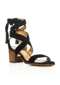 Splendid Janet Crisscross Ankle Strap Block Heel Sandals