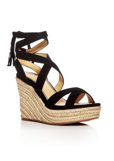 Splendid Janice Ankle Tie Espadrille Wedge Sandals