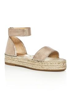 Splendid Jensen Metallic Ankle Strap Espadrille Sandals
