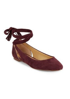Splendid Jerrie Suede Lace-Up Flats