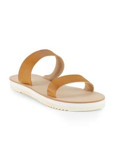 Splendid Jina Leather Open-Toe Slip-On Sandals