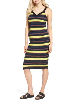 Splendid Jungle Stripe Midi Tank Dress
