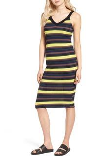 Splendid Jungle Stripe Midi Tank Dress