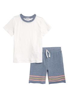 Splendid Kids' Double Stripe T-Shirt & Shorts Set (Toddler & Little Boy)