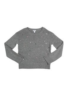 Splendid Kid's Lurex Star Embroidery Sweater  Size 7-14