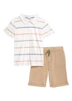Splendid Kids' Paint Stripe Polo & Shorts Set (Toddler & Little Boy)