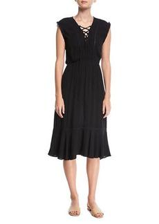 Splendid Lace-Front Midi Coverup Dress