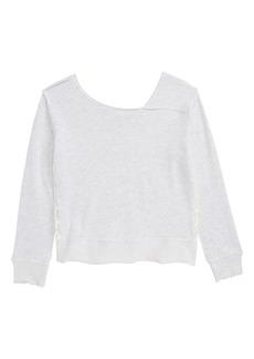 Splendid Lace Inset Sweatshirt (Big Girls)