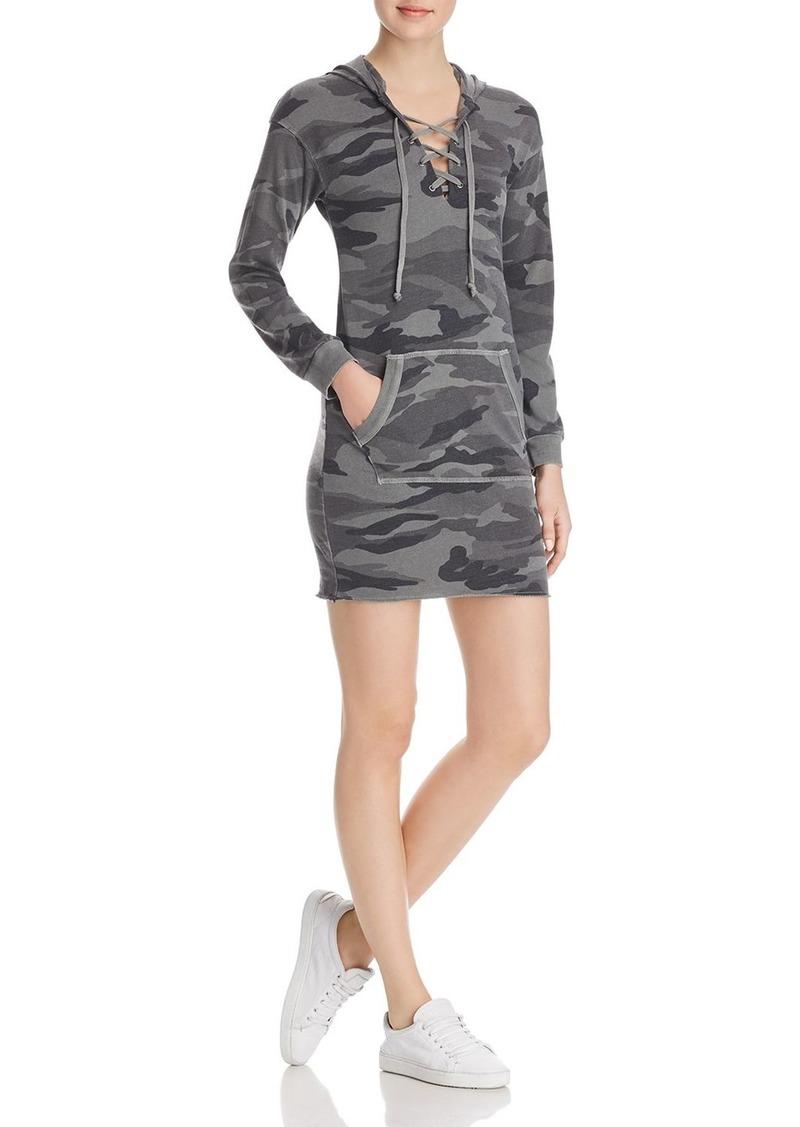 52d4fec792892 Splendid Splendid Lace-Up Camo Sweatshirt Dress Now $51.80