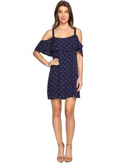 Lacy Polka Dot Cold Shoulder Dress