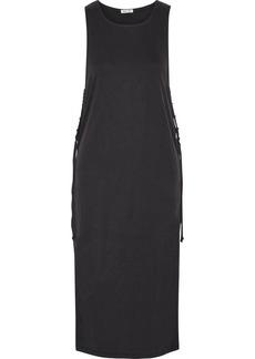 Splendid Layered ribbed stretch modal-blend midi dress