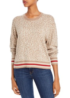 Splendid Leopard-Pattern Crewneck Sweater
