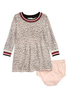 Splendid Leopard Pattern Sweater Dress (Baby)