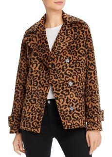Splendid Leopard Print Double-Breasted Jacket