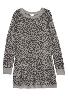 Splendid Leopard Print Sweater Dress (Toddler Girls & Little Girls)