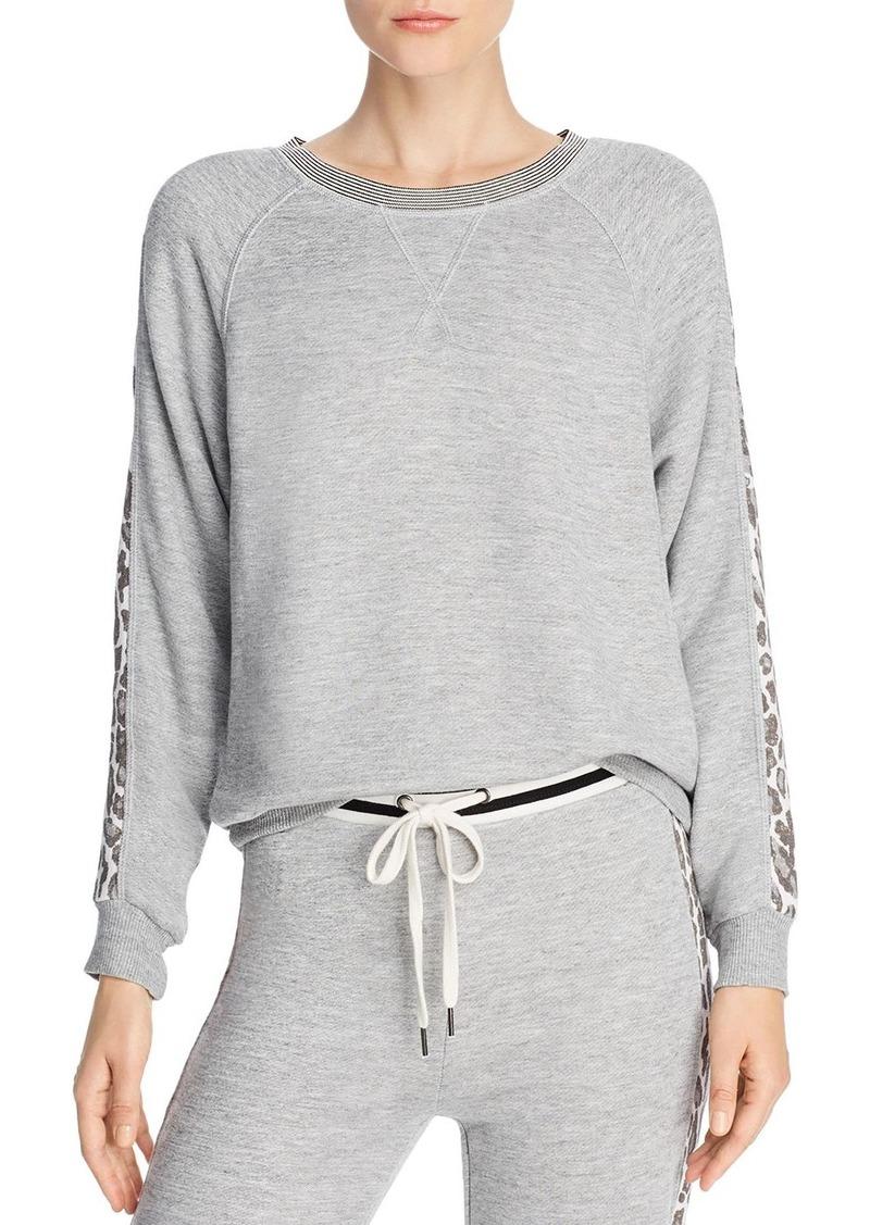Splendid Leopard-Sleeve Sweatshirt - 100% Exclusive