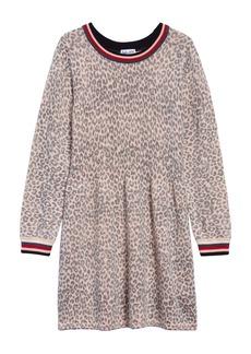 Splendid Leopard Sweater Dress (Toddler Girls)
