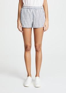 Splendid Linen Blend Stripe Shorts