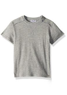 Splendid Little Boys' Basic Short Sleeve Tee Shirt Heather Grey