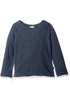 Splendid Little Boys' Long Sleeve Indigo Raglan