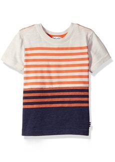 Splendid Little Boys' Toddler Short Sleeve Classic Stripe Tee Off White