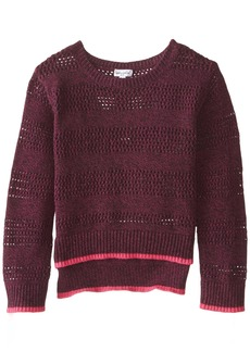 Splendid Little Girls' Full Fashion Marled Sweater  5-6