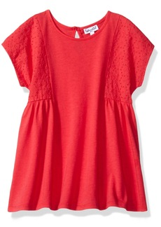 Splendid Little Girls' Seasonal Always Short Sleeve Eyelet Top