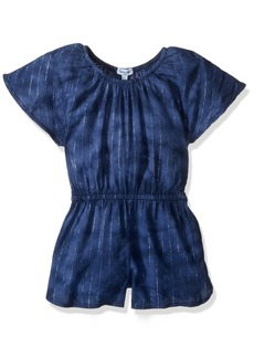 Splendid Little Girls' Tie Dye with Lurex Stripe Romper  5/6