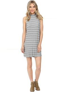 Loralie Stripe Mock Neck Dress