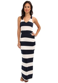 Splendid Luna Lake Stripe Ruched Maxi Dress