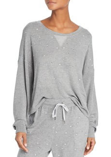 Splendid Marathon Rhinestone-Detail Slouchy Sweatshirt