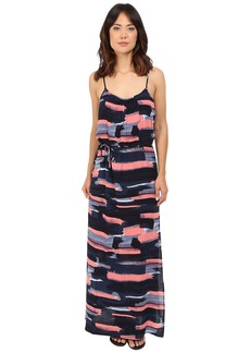 Splendid Maritime Print Maxi Dress