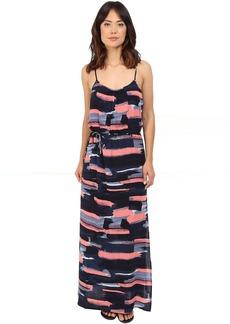 Splendid Maritime Print Maxi Dress