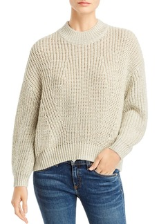 Splendid Metallic Ribbed Sweater