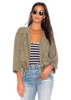 Splendid Military Jacket in Green. - size L (also in S,M)