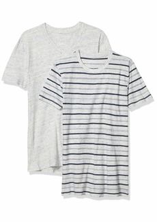 Splendid Mills Men's Solid & Striped Father's Day Marble Tee 2 Pack